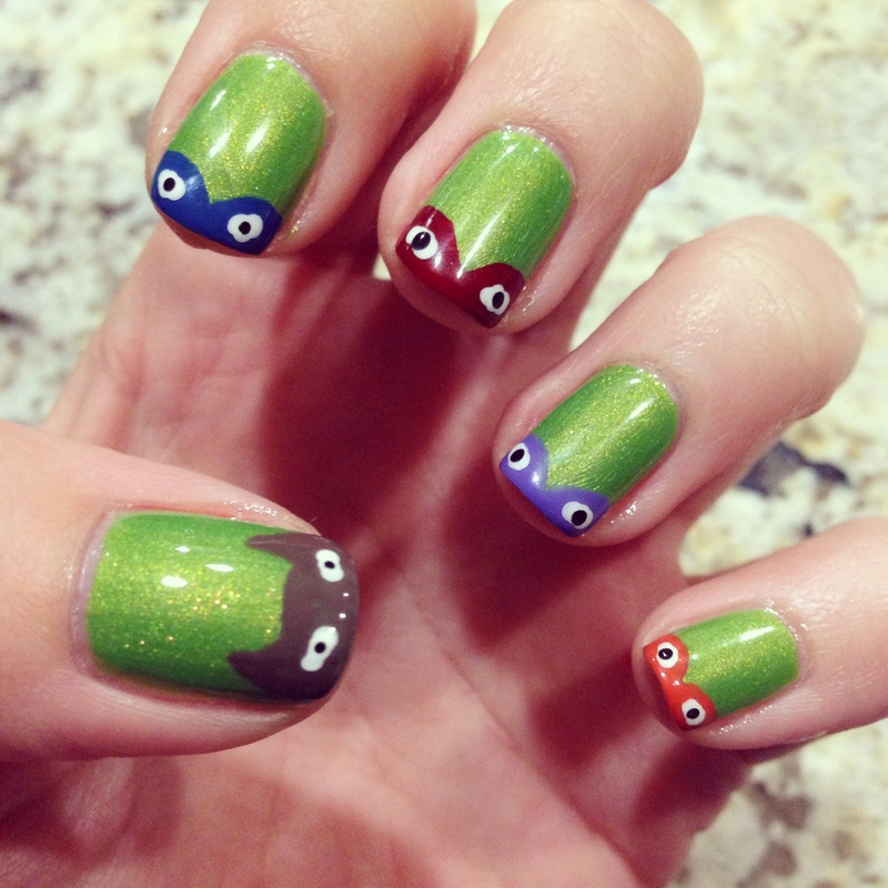 daily nails: teenage mutant ninja turtles nail art! - milly - indie ...